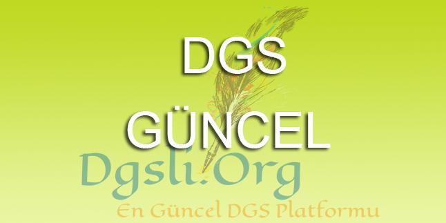 DGS 2017 Şartlı Kayıt Duyurusu