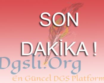 2016 DGS Sonuçları Açıklandı.