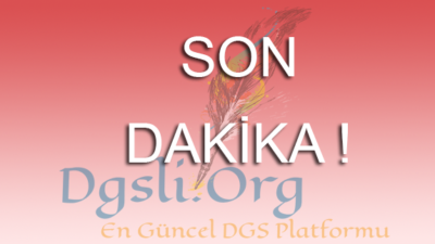 2018 DGS Sonuçları Açıklandı!
