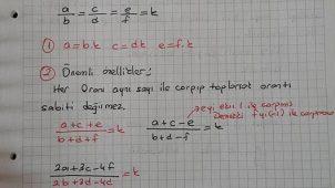 Oran-Orantı Ders Notu ve Örnekleri-Ali Hoca