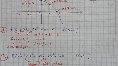 Fonksiyonlar 50 Çözümlü Soru Ali Hoca